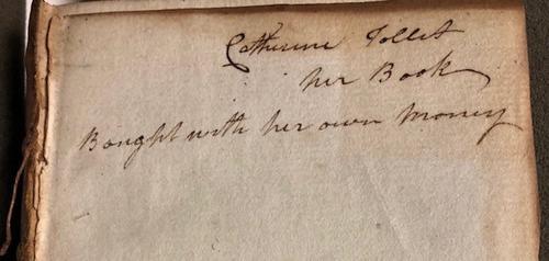 inscription in book