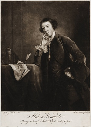 """Horace Walpole Youngest son of Sir Robert Walpole, Earl of Orford"" in 49 3582"