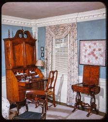 Morning Room in the Cowles House, Lewis era color slide