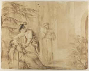 Diana Beauclerk (1724-1808), The Mysterious Mother, Act 3d, Scene 3, 1776. The Lewis Walpole Library, Yale University