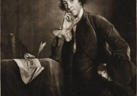 "Image is mezzotint of ""Horace Walpole youngest son of Sr. Robt. Walpole, Earl of Orford"" by James McArdell"